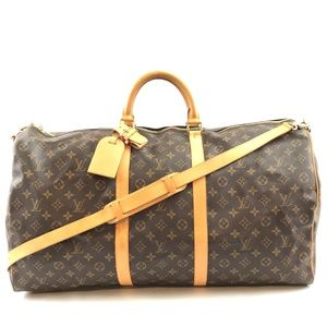 Keepall with Strap 60 Bandouliere Travel Bag